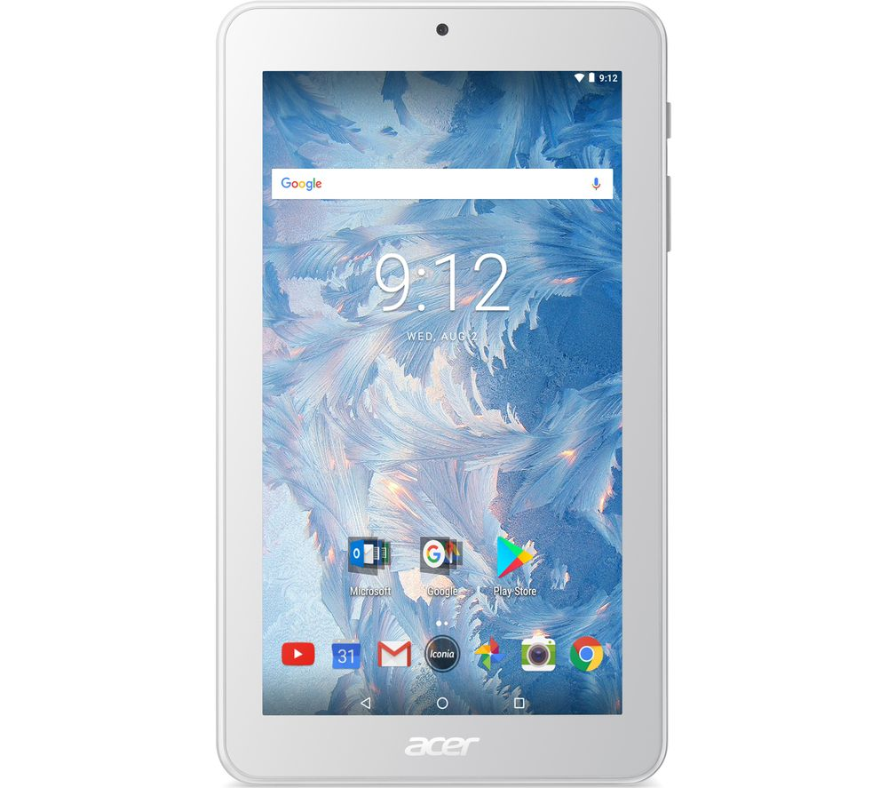acer iconia one 10 b3 a40 10 1 tablet 16 gb white white. Black Bedroom Furniture Sets. Home Design Ideas