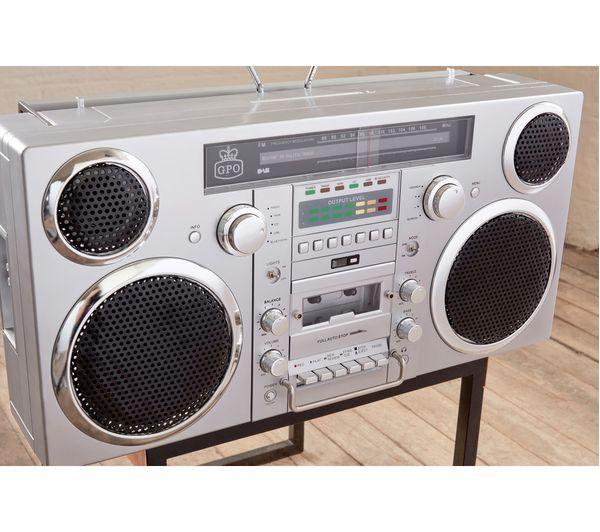 Buy Gpo Brooklyn Retro Dab Fm Bluetooth Boombox Grey