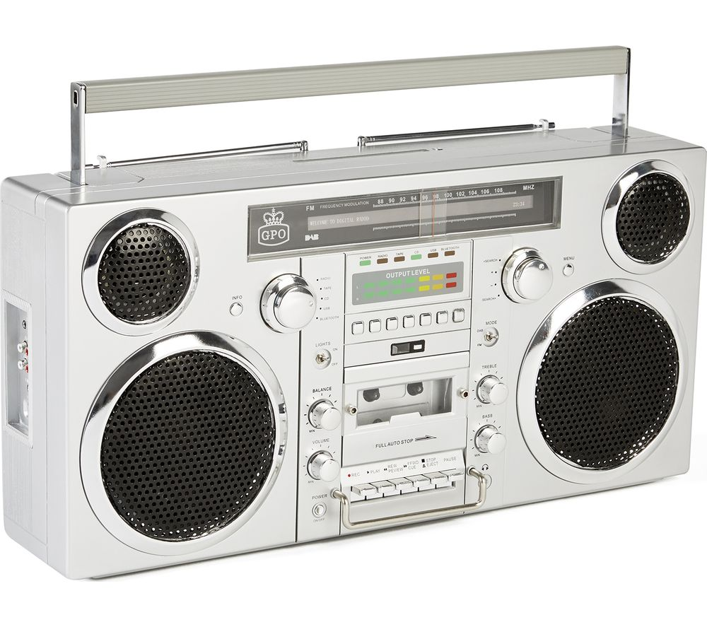 GPO Brooklyn Retro DAB/FM Bluetooth Boombox - Grey