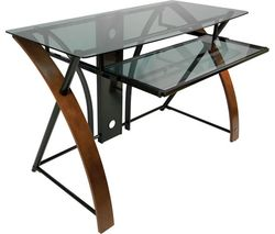 ESSENTIALS Accord CD8841 Desk - Black & Brown