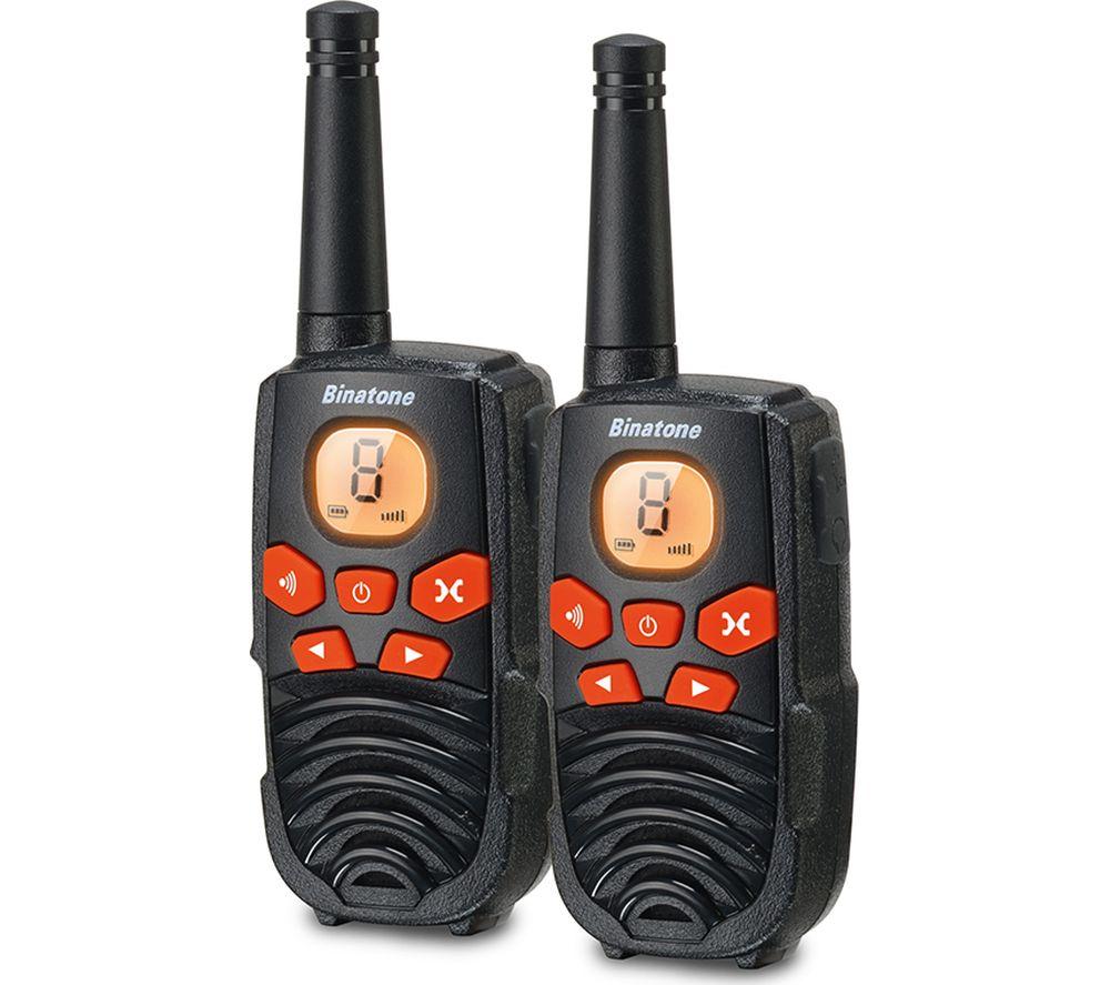 BINATONE Latitude 250 Walkie Talkie - Black & Orange, Black
