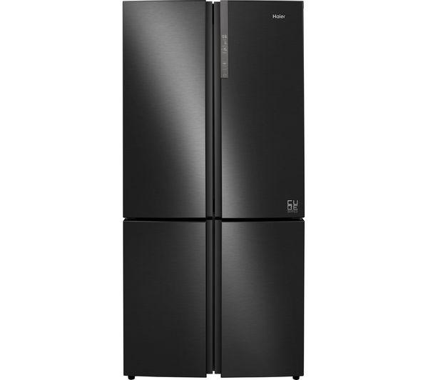 Image of HAIER Cube Series HTF-610DSN7 70/30 Fridge Freezer - Black Stainless Steel