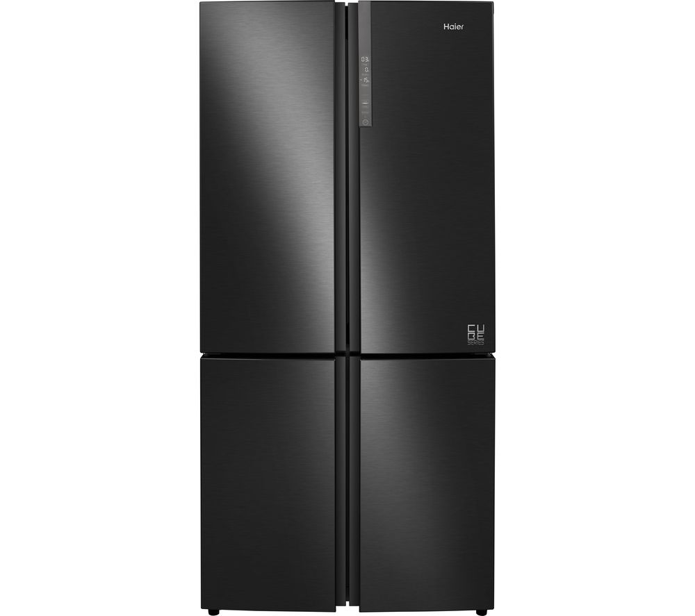 HAIER Cube Series HTF-610DSN7 70/30 Fridge Freezer - Black Stainless Steel