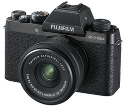 FUJIFILM X-T100 Mirrorless Camera with FUJINON XC 15-45 mm f/3.5-5.6 OIS PZ Lens - Black