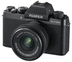 FUJIFILM X-T100 Mirrorless Camera with FUJINON XC 15-45 mm f/3.5-5.6 OIS PZ Lens - Black