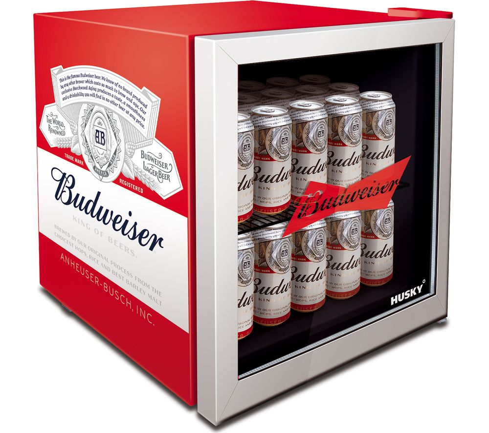 Image of HUSKY Budweiser HUS-HU253 Drinks Cooler - Red, Red
