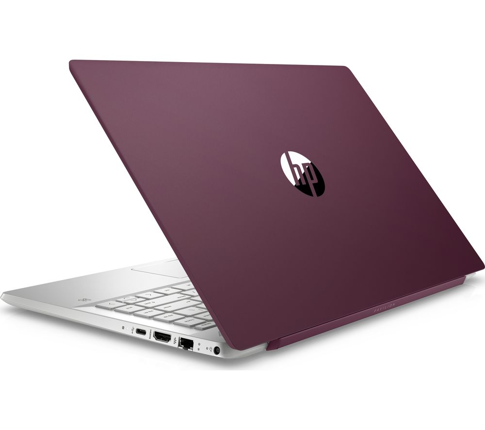 "Image of HP Pavilion 14-ce0521sa 14"" Intel® Core™ i3 Laptop - 128 GB SSD, Burgundy & Silver, Silver"