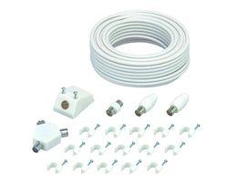LOGIK LAEK19 Aerial Cable & Adapters Extension Kit - 15 m