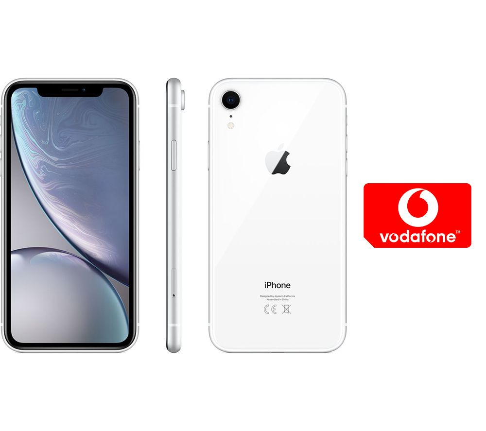 APPLE iPhone XR & Pay As You Go Micro SIM Card Bundle - 64 GB, White