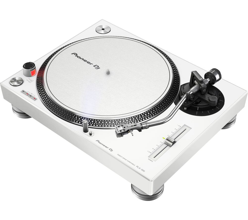 Image of PIONEER PLX-500 Direct Drive Turntable - White, White