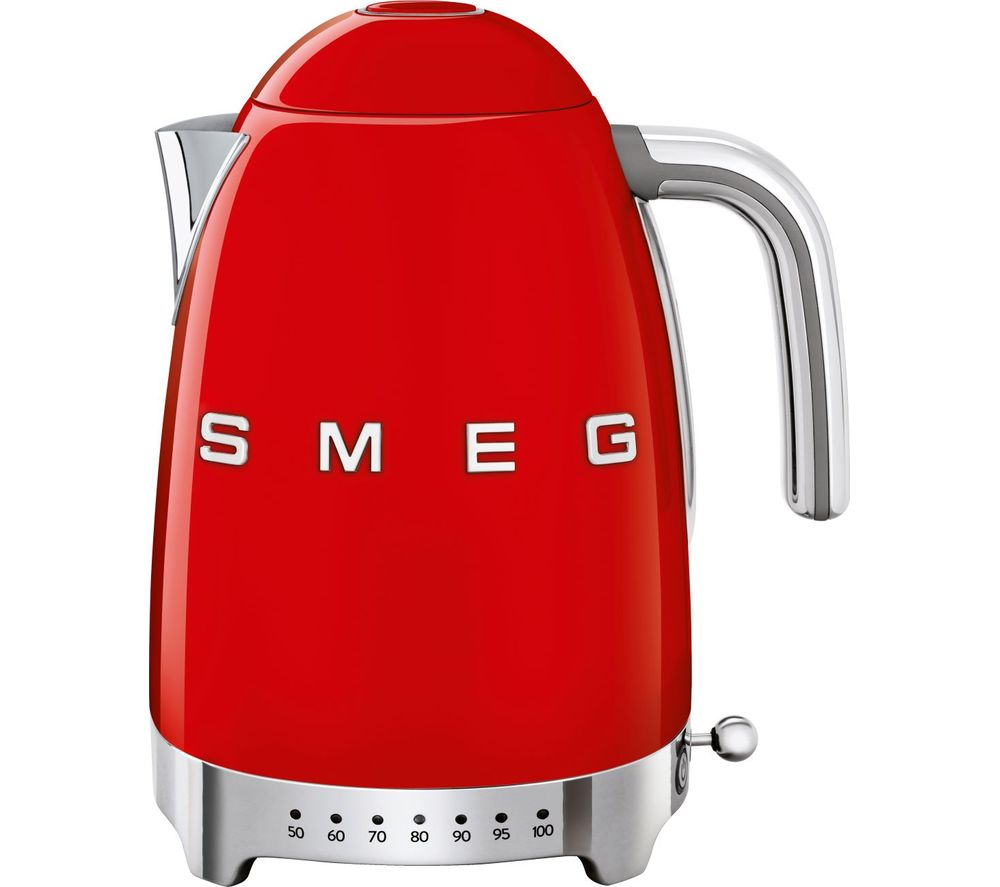 50s Retro Style KLF04RDUK Jug Kettle - Red, Red
