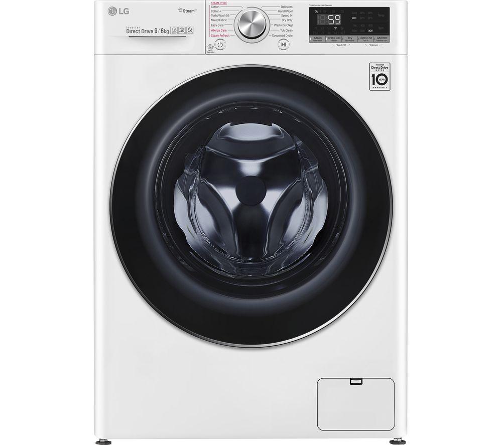LG FWV796WTS WiFi-enabled 9 kg Washer Dryer - White, White