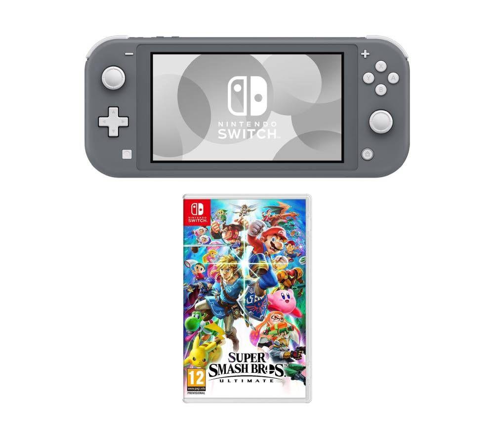 NINTENDO Switch Lite & Super Smash Bros. Ultimate Bundle - Grey