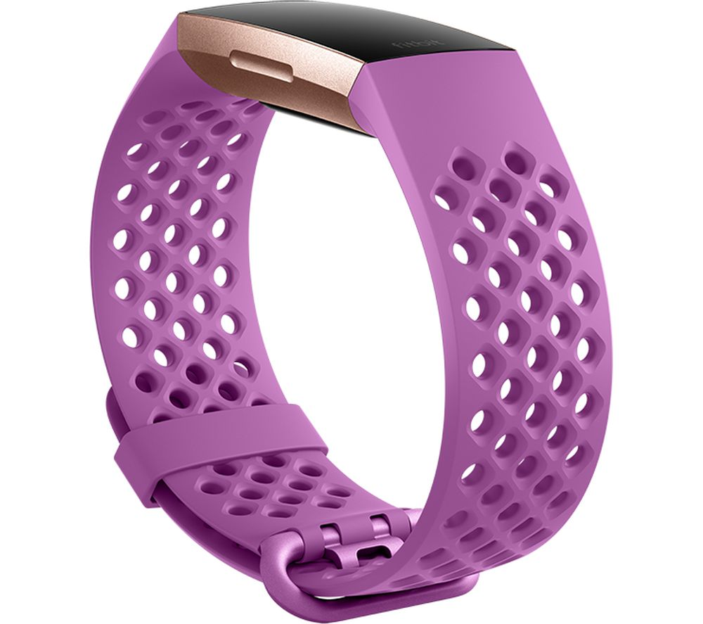 FITBIT Charge 3 Sport Band - Berry, Small