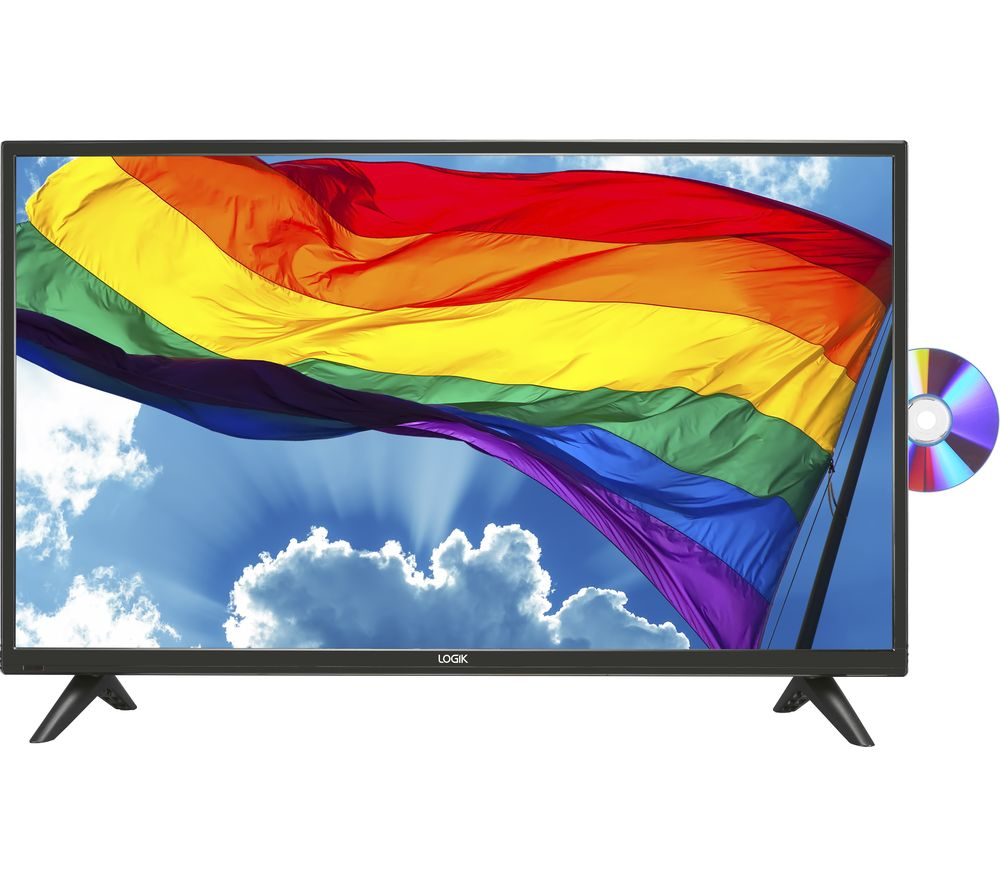 """LOGIK L32HED20 32"""" LED TV with Built-in DVD Player"""