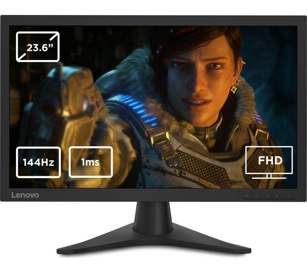 """LENOVO G24-10 Full HD 23.6"""" TN LCD Gaming Monitor - Black"""