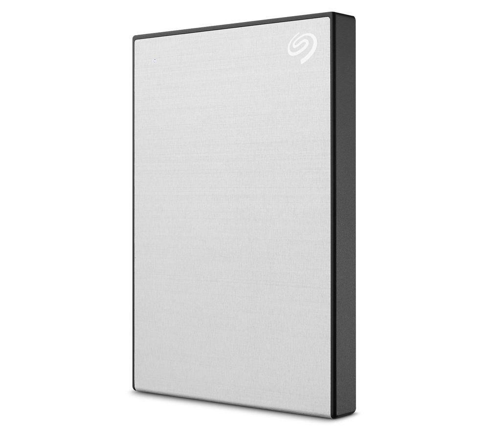 SEAGATE Backup Plus Slim Portable Hard Drive - 1 TB, Silver