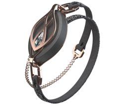 Leaf Crystal Fitness Tracker with Crystal Bracelet - Swarovski Rose Gold