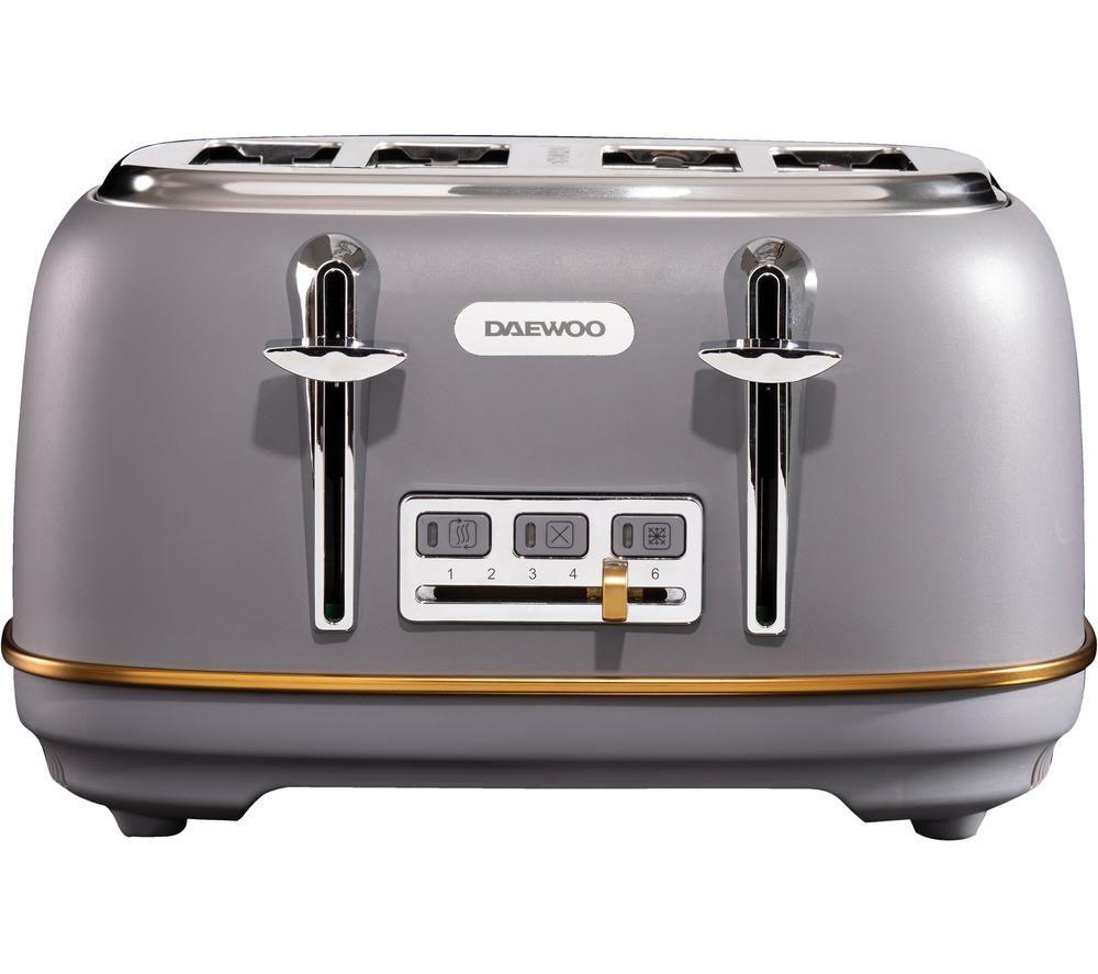 DAEWOO Astoria SDA1818 4-Slice Toaster - Grey