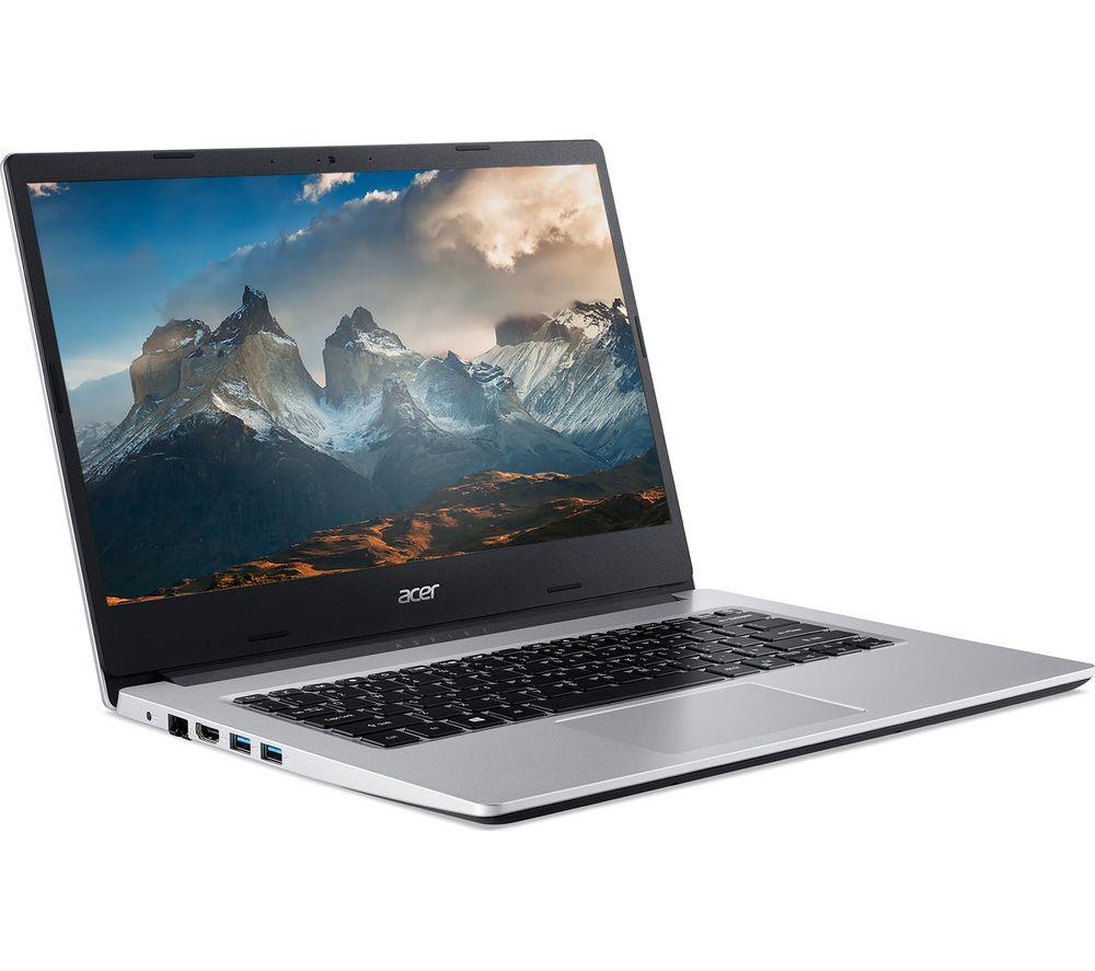 ACER Aspire 3 14 Laptop - AMD Ryzen 3, 128 GB SSD, Silver, Silver