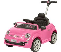Vroom TY6107PK Fiat 500 Electric Ride On Toy - Pink