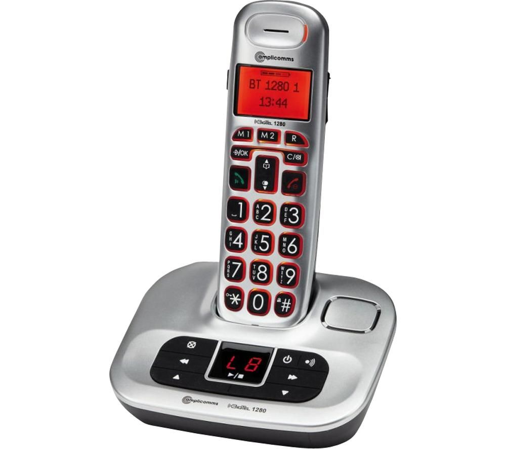 AMPLICOMMS BigTel 1280 Cordless Phone