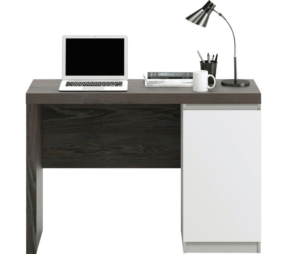 TEKNIK 5425833 Hudson Chunky Desk - Charcoal Ash, Charcoal