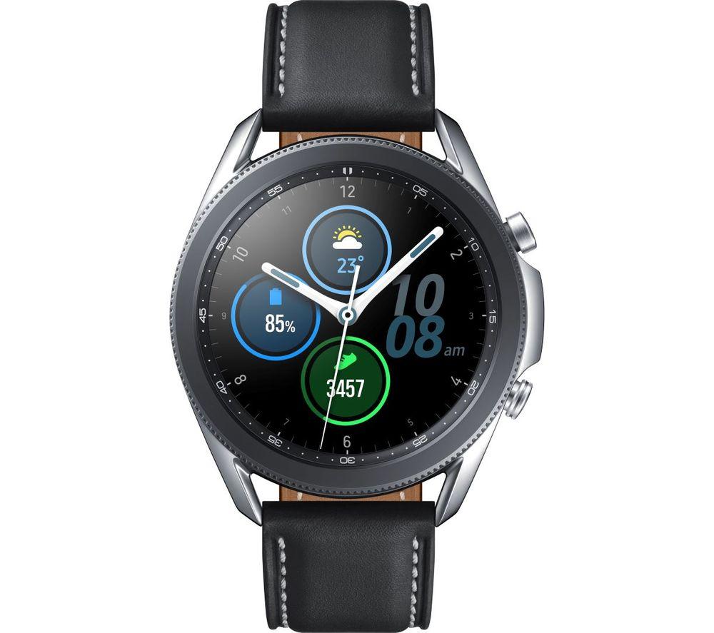 SAMSUNG Galaxy Watch3 - Mystic Silver, 45 mm