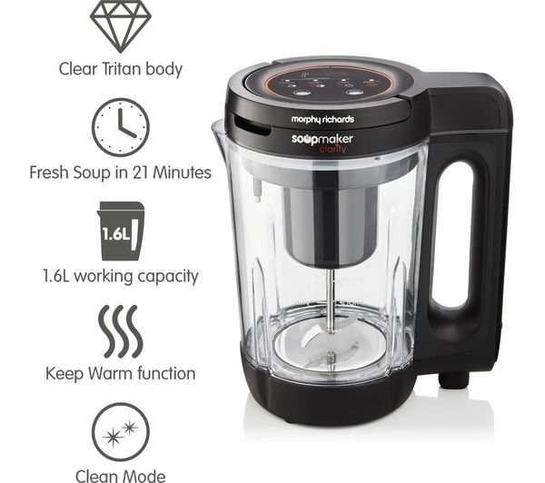 Buy Morphy Richards 501050 Soup Maker Black Dark Grey Free Delivery Currys A place where we can post recipes, tips and suggestions. 501050 soup maker black dark grey
