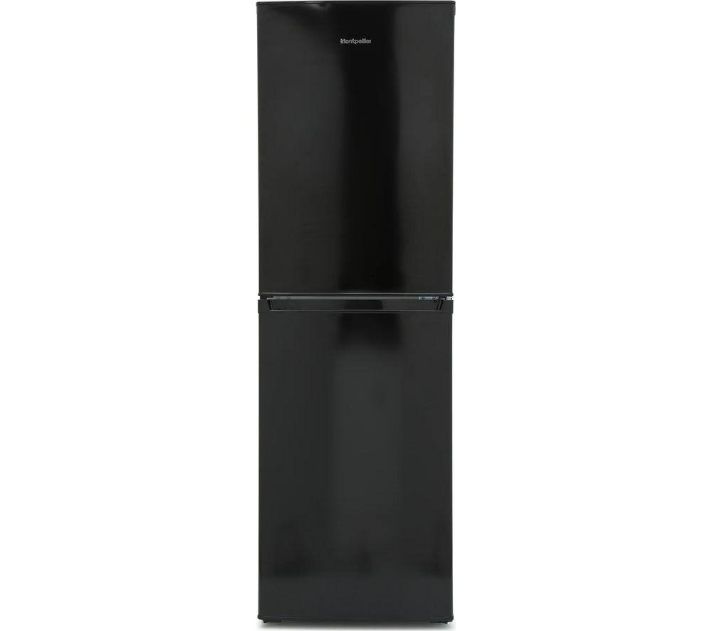 MONTPELLIER MS175BK 50/50 Fridge Freezer - Black, Black