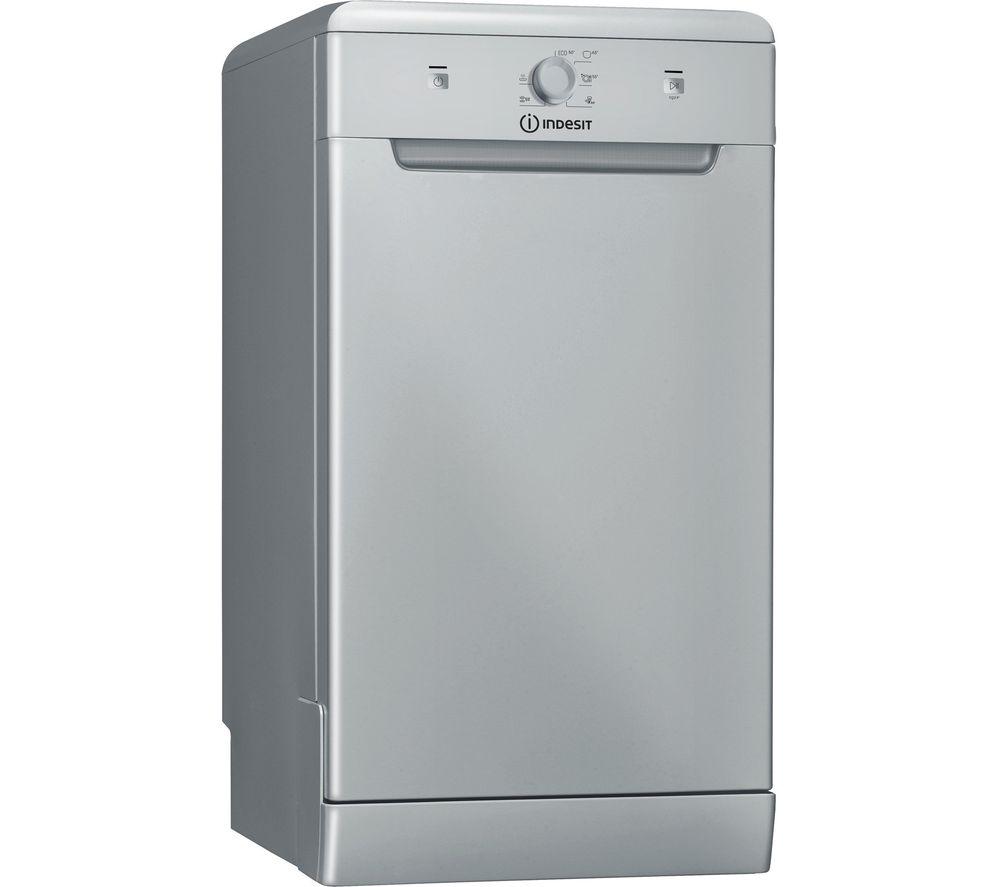 INDESIT DSFE 1B10 S UK N Slimline Dishwasher - Silver