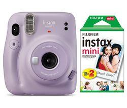 mini 11 Instant Camera & 20 Shot Instax Mini Film Pack Bundle - Lilac Purple