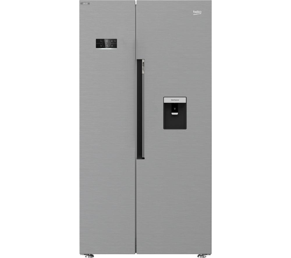 BEKO Harvest Fresh ASD2342VPS American-Style Fridge Freezer - Stainless Steel, Stainless Steel