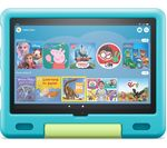 £199.99, AMAZON Fire HD 10 10.1inch Kids Tablet (2021) - 32 GB, Aquamarine, Fire OS 7, Full HD screen, 32GB storage: Perfect for apps / photos / videos, Battery life: Up to 12 hours, Add more storage with a microSD card,
