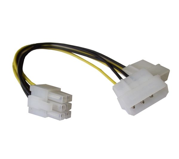 Buy DYNAMODE 4-Pin Molex to 6-Pin PCle Cable - 10cm | Free
