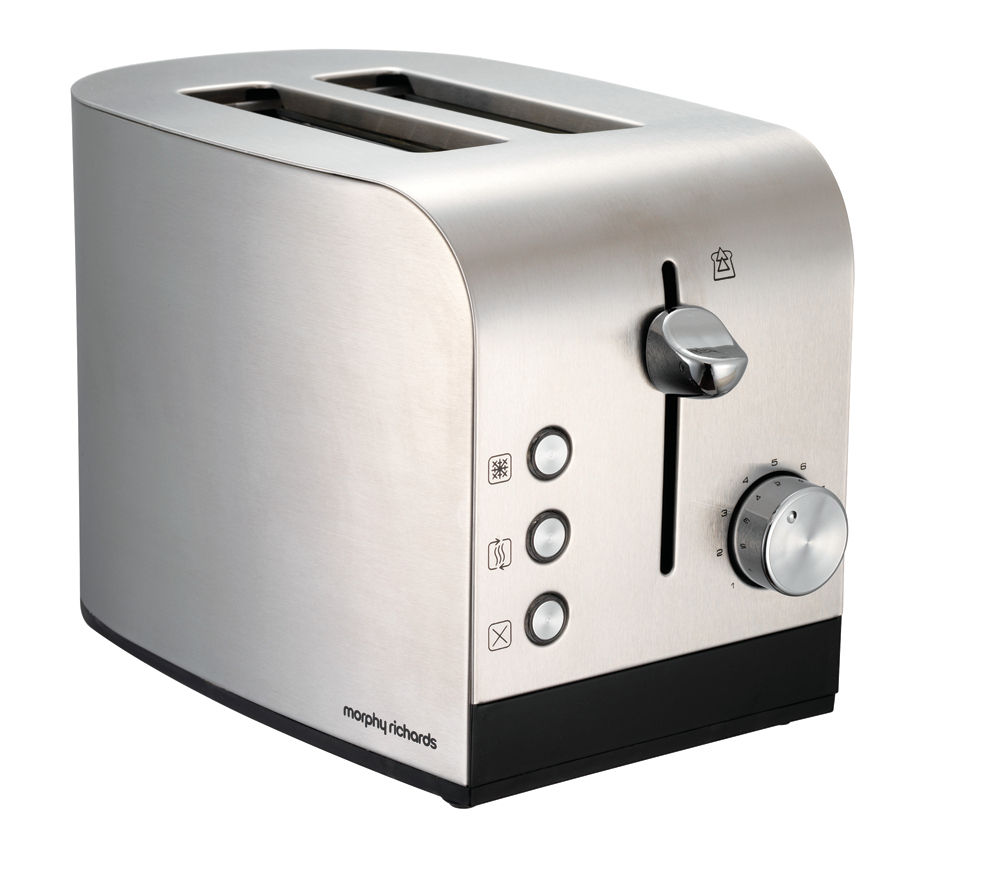 MORPHY RICHARDS Equip 44208 2-Slice Toaster - Brushed Stainless Steel