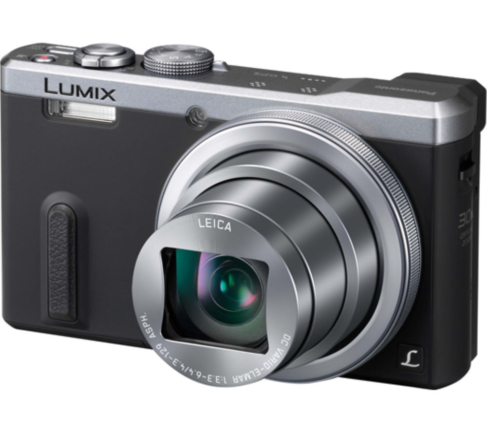 PANASONIC Lumix DMC-TZ60EB-S Superzoom Compact Camera - Grey + Extreme Plus Class 10 SD Memory Card Twin Pack - 16 GB
