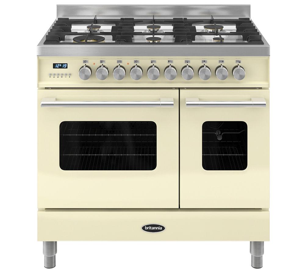 BRITANNIA Delphi 90 RC9TGDES Duel Fuel Range Cooker - Cream