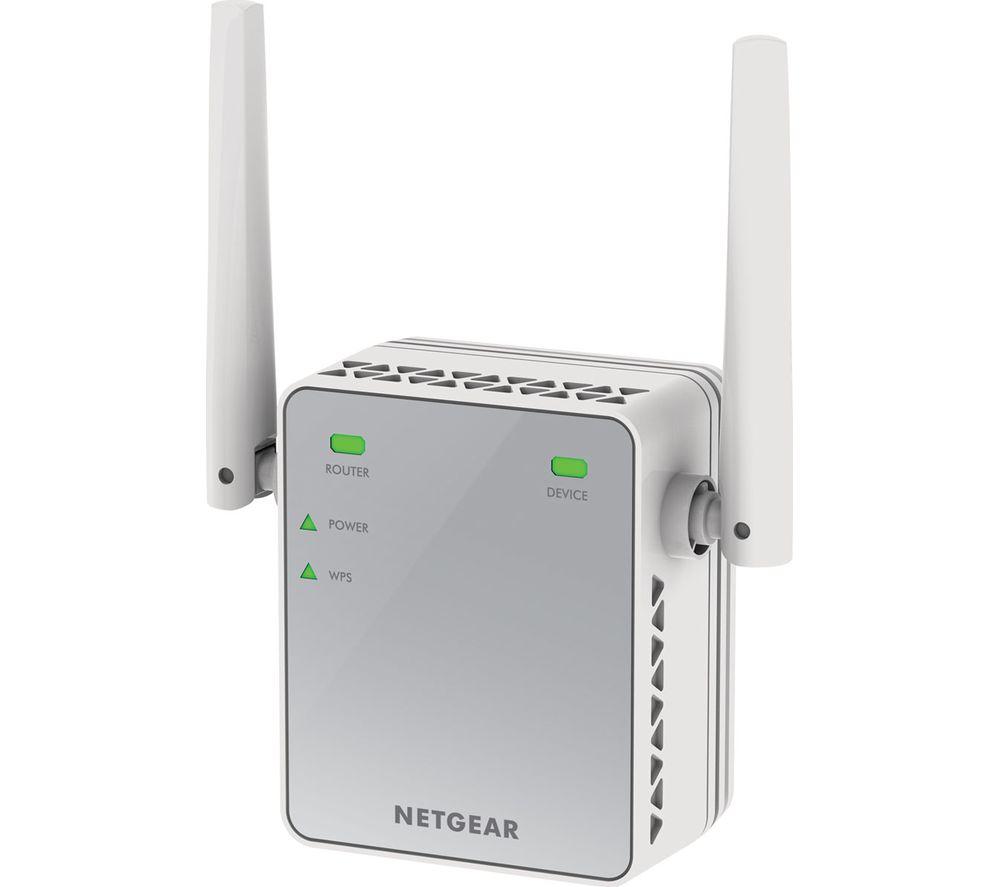 NETGEAR EX2700-100 WiFi Range Extender - N300, Single-band
