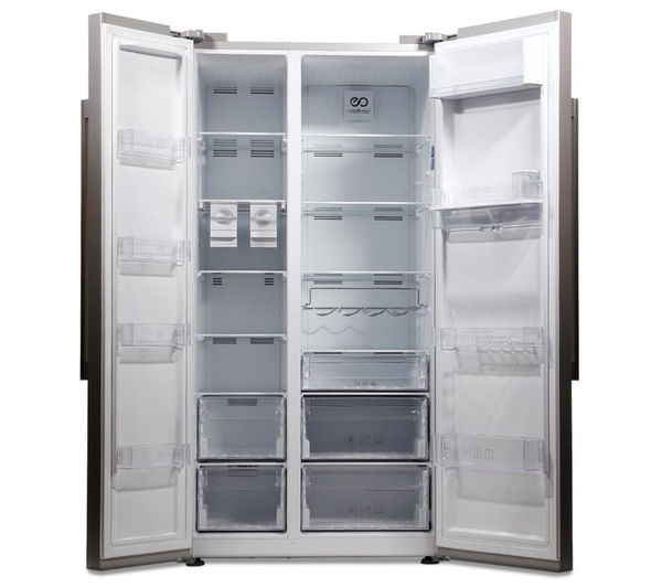 buy beko asd241s american style fridge freezer silver free delivery currys. Black Bedroom Furniture Sets. Home Design Ideas