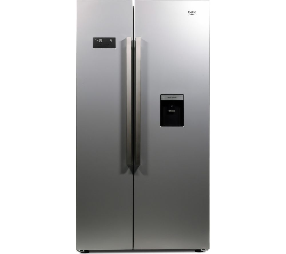 BEKO ASD241S American-Style Fridge Freezer - Silver + DCX83100W Condenser Tumble Dryer - White