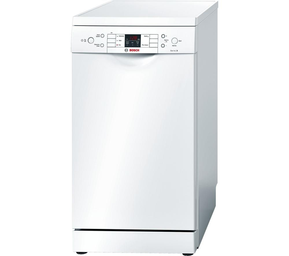 BOSCH Serie 6 SPS59T02GB Slimline Dishwasher - White
