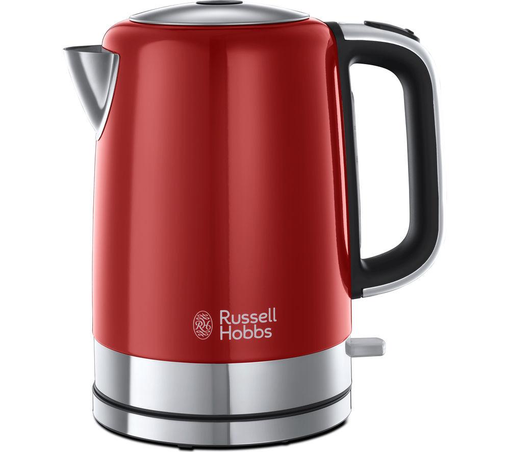 RUSSELL HOBBS Windsor 22821 Jug Kettle - Red + Windsor 22831 4-Slice Toaster - Red
