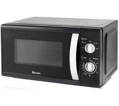 SWAN SM40010BLKN Solo Microwave - Black Best Price, Cheapest Prices