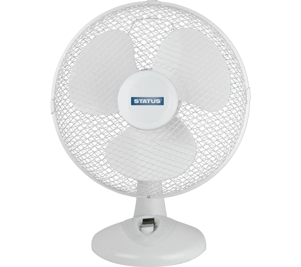 STATUS 12 inch Desk Fan - White