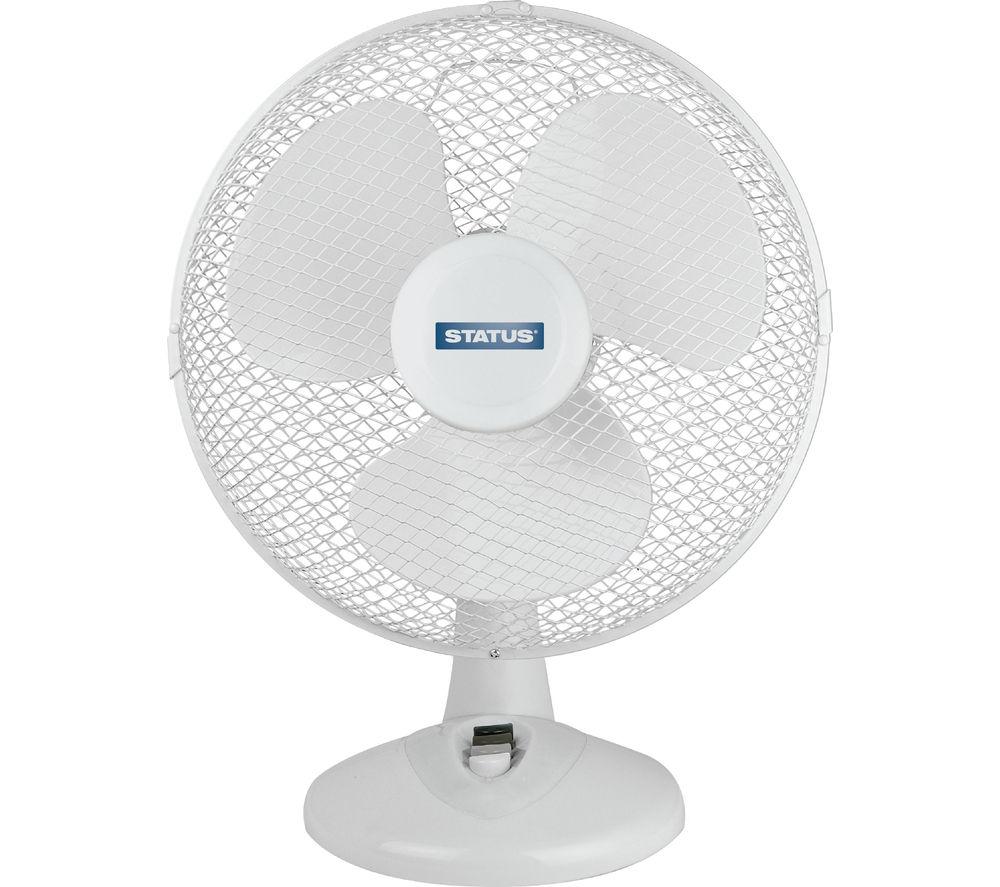 inchSTATUS 12 inch inch Desk Fan - White inch