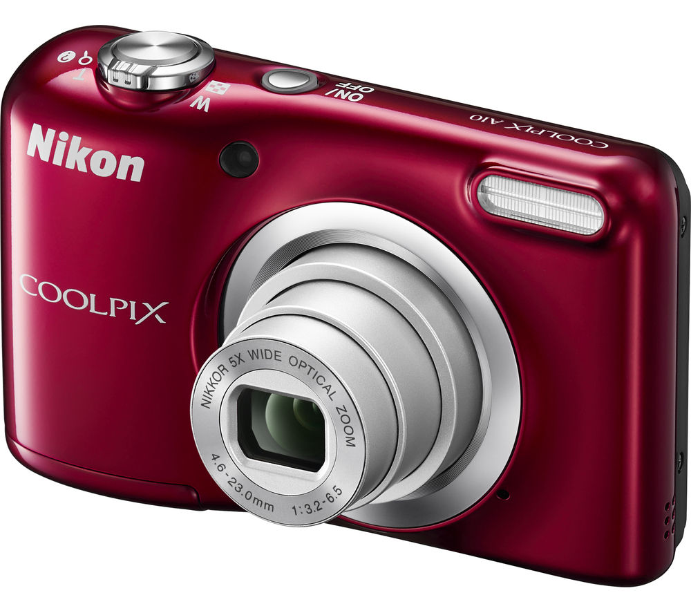 Buy NIKON COOLPIX A10 pact Camera Red Free Delivery