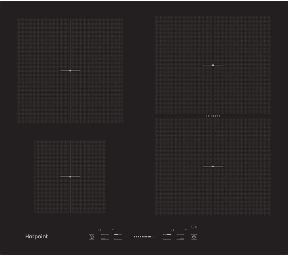 HOTPOINT Ultima CIS 641 F B Electric Induction Hob - Black