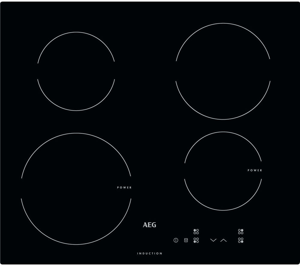 Image of AEG HK604200IB Electric Induction Hob - Black, Black