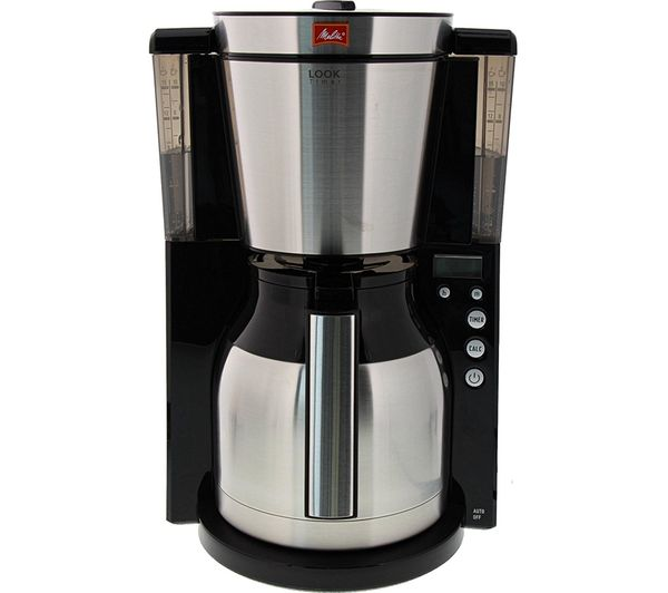 Look Iv Therm Timer Filter Coffee Machine Black Stainless Steel